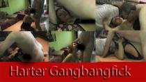 versautes Gangbangluder schreit nach Sperma
